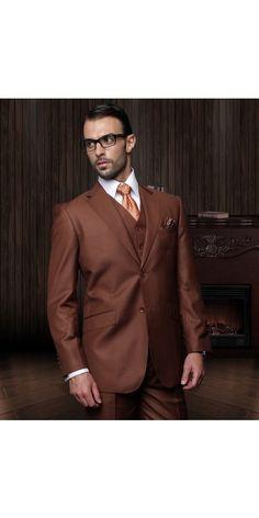 Men's 3 Pc Fashion Suit by STATEMENT - Copper