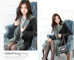 Korea Women's Long Stand Collar Slim Double-Breasted Cashmere Wind Breaker Overcoat - Wool Coat - Women Clothing - Fashion