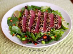 Seared Tuna Salad...my favorite is from Sushi Ville