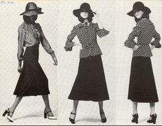 1974 Yves Saint Laurent Midi skirt
