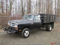 Dodge Ram 3500 4X4 Flatbed Dump Truck 9 Ft. Utility Dump Body 5.9 ...