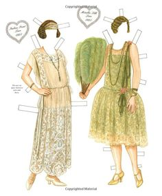 Love of Lace Paper Dolls: 2 dolls and 15 Lacy Fashions from 1840 To 1956: Brenda Sneathen Mattox, Paper Dolls: 9781935223528: Amazon.com: Books