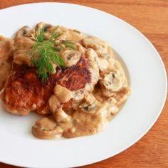Hunter's Pork Chops, just like my mom used to make, gravy and all mmm mushroom gravy