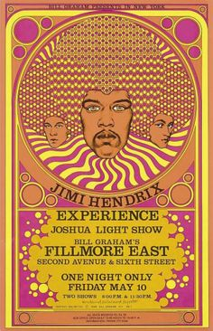 The Jimi Hendrix Experience Fillmore East concert poster