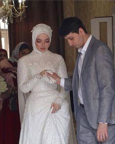 The word conjures up images of gorgeous Mus Muslim Wedding Gown, Hijabi Wedding, Wedding Hijab Styles, Muslimah Wedding Dress, Hijab Style Dress, Muslim Wedding Dresses, Muslim Brides, Wedding Dress Sleeves, Muslim Girls