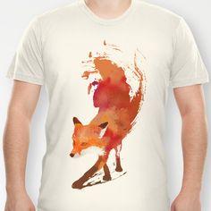 Vulpes vulpes T-shirt by Robert Farkas - $18.00