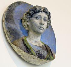 Andrea della Robbia - Bust of a youth (1465-70) Tin-glaze / white enamelled terracotta