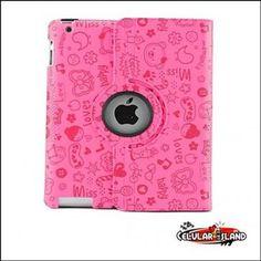 Funda mini ipad circulo giratorio rosa www.celularisland.com