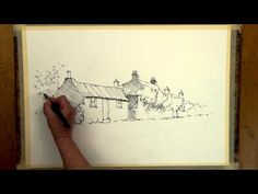 In this tutorial Joanne goes back to the old technique of line and wash in this painting of a cottage on the Isle of Man.  She looks at the two disciplines of line and colour, using the ink to describe the lines, and the paint to describe the vibrant colours.    See lots more lesson from Joanne over at www.ArtTutor.com