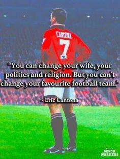 Eric cantona Football Quotes, Football Shirts, Football Team, Citation Style, Manchester United Wallpaper, Eric Cantona, Manchester United Football, Trafford, Man United