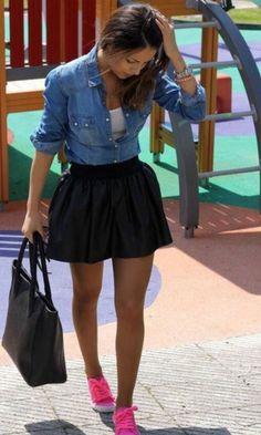 Moda it - Look: Jeans + Tênis Rosa | Moda it