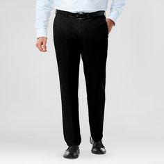 Haggar H26 - Men's Classic Fit No Iron Stretch Khaki Pant Black 33x30