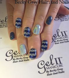#gelii #manicure frou frou blue and midnight blue #moyoulondon #nailart #magpieglitter aurora Amira #showscratch #tcbg #nails #music