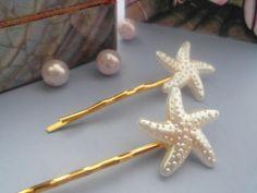 *Mermaid* Vergoldete Haarspangen mit Seestern von Happy Lilly auf DaWanda.com