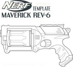 nerf gun coloring page from misc. toys and dolls category. select ... - Nerf Gun Coloring Pages Printable