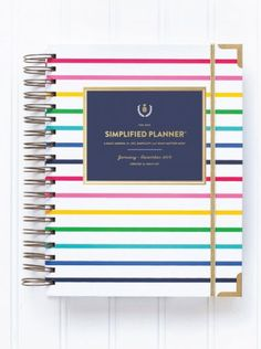 The 2015 Simplified Planner by Emily Ley is a daily agenda for busy wo 2015 Planner, Happy Planner, Blog Planner, Life Planner, Best Planners, Day Planners, Emily Ley, Simplified Planner, Planner Organization
