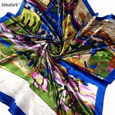Fashion spring and autumn women's large satin silk scarf square cashew flowers scarf Plus Clothing, Square Scarf, Silk Scarves, Scarf Styles, Silk Satin, Womens Scarves, Plus Size Women, Shawl, Womens Fashion
