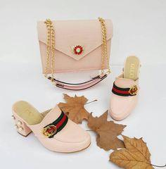 Gucci 2455 - Çanta, Topuklu Terlik Kombin