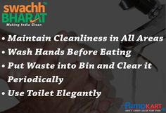 To lead #healthy lives follow the #sanitation rules. Maintain your surroundings #clean by putting all waste into bin. Keep Follow us at  #SwachhBharatAbhiyan