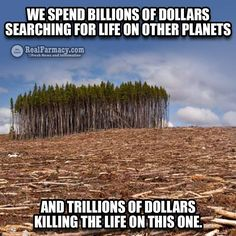 Stay vocal! We can't allow them to strip our planet to line their pockets.