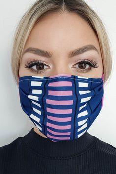 Masca de protectie albastru-inchis StarShinerS din material textil Eyes, Beauty, Beauty Illustration, Cat Eyes