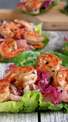 The prawns were cooked to perfection! Tender and tasty!!! Gosh I'm loving the seafood variety that you've been presenting! :) Shrimp Lettuce Wraps
