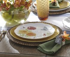 Mum's the word: we've got a Butterfly Meadow pattern for every season. Celebrate fall with our unique Harvest pattern featuring warmly-hued autumn florals. Porcelain Dinnerware, Dinnerware Sets, Table Setting Design, Table Settings, Mums The Word, Elegant Table, Fall Flowers, White Porcelain, Fall Decor