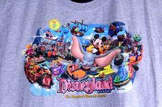 DISNEYLAND RESORT Happiest Place on Earth Size 2XL Gray Glitter T Shirt Dumbo #Disney #GraphicTee