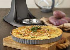 KitchenAid Stand Mixer recipe - Potato and leek flan