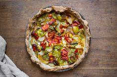 Unvergessliche Tomatentarte mit Mandeln und Birnen Ice Ice Baby, Vegetable Pizza, Treats, Vegetables, Recipes, Food, Magic, Kitchen, Tarts