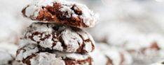 Chocolate Mint Crinkle Cookies!