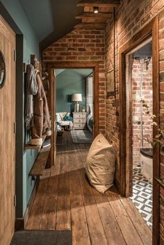 The Sanctuary – Hampshire, UK Brick plus blue: colors! The Sanctuary – Hampshire, UK Brick plus blue: colors! The Sanctuary – Hampshire, UK Brick plus blue: colors! Style At Home, Sheltered Housing, Uk Homes, House Goals, Home Fashion, Diy Fashion, Cozy House, My Dream Home, Home Interior Design