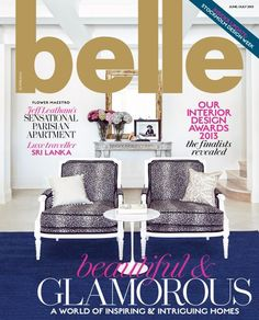 Sophisticated, stylish and with a wealth of international expertise, Neale Whitaker is one of Australia's foremost style gurus Belle Magazine, Parisian Apartment, A Boutique, Awards, Interior Design, Design Interiors, Place Card Holders, Glamour, Cover