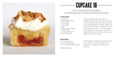 Bon Appétempt: annual bake sale part 2: sour cream apricot cupcakes with mascarpone frosting and toasted almonds