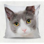 Almofada decorativa em tecido estampado  - BEAUTIFUL CAT – 45cm X 45cm - Decorsoft - @decor_soft http://www.decorsoft.com.br/ #petlover #decorsoft #decor #almofadas #decoração #pet #adorable #petsgram