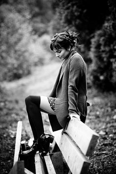 love it all; the bangs, the socks... sweet and relaxed