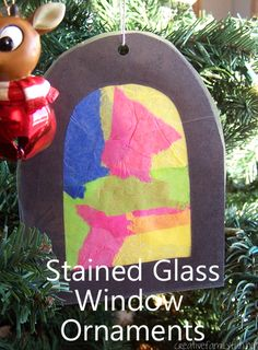 Try this mess-free kids' Christmas craft: Stained Glass Window Ornaments