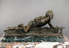 A Very Fine Quality Late 19th Century Bronze Sculpture an American Indian