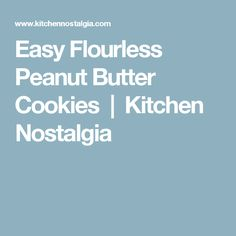 Easy Flourless Peanut Butter Cookies - everything you've dreamed of: full of peanut butter flavor, made with only 5 ingredients, gluten-free and dairy-free. Flourless Peanut Butter Cookies, Kraft Recipes, Christmas Candy, Dairy Free, Gluten Free, Deserts, Nostalgia, Baking, Easy