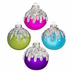 4-pc. Candy Christmas Ornament Set
