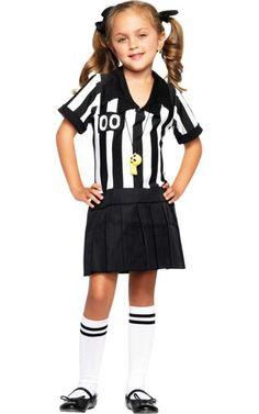 toddler girls half pint referee costume clearance costumes toddler girls costumes - Clearance Halloween Costumes Kids