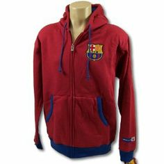 FC BARCELONA SOCCER ZIP FRONT FLEECE HOODIE SWEATSHIRT JACKET SZ XXL by F.C. Barcelona. $43.94. Officially licensed by the Soccer. Officially licensed by the FC Barcelona. Top Quality, Manufactured by Rhinox Group. FC Barcelona fans will stay stylish in this terrific team logo zip-front Hoodie. >Super soft cotton-poly blend. Machine wash/tumble dry. Thermal interior Hoodie with drawsting. Official team colors. Embroidered logo patch on the chest. Embroidered team n...