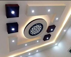Top 40 Modern False Ceiling Design Ideas of - Engineering Discoveries Drawing Room Ceiling Design, Simple False Ceiling Design, Simple Ceiling Design, Plaster Ceiling Design, Gypsum Ceiling Design, Interior Ceiling Design, House Ceiling Design, Ceiling Design Living Room, Ceiling Decor