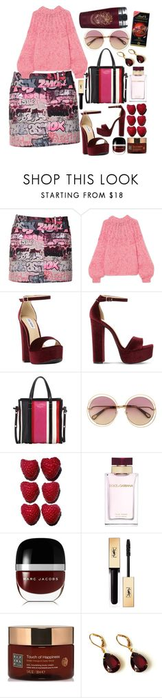"""""""When you're going to do it like a boss"""" by pulseofthematter ❤ liked on Polyvore featuring Giamba, Ganni, Steve Madden, Balenciaga, Dolce&Gabbana, Marc Jacobs, Yves Saint Laurent, Rituals and Lindt"""
