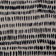 handprinted linen- Dashes Fabric in Black & Natural – Rebecca Atwood Designs Buy Fabric, Printing On Fabric, Fabric Patterns, Print Patterns, Stencil Patterns, Grass Pattern, Fabric Journals, Textiles