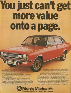 Covers the 1978 Morris Marina that was sold in England. Retro Cars, Vintage Cars, 70s Cars, Morris Marina, Classic Cars British, British Car, Austin Cars, Car Brochure, Cars Uk
