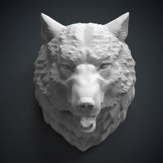 Large_wolf_head_sculpture_3d_model