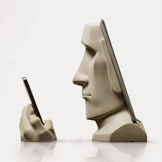 You know the giant statues on Easter Island, the Moai? Well, artist and designer Scott Eaton has created an iPad & iPhone docking station in their likeness! It's called Moai and it's a clever design. Industrial Interiors, Industrial Chic, Industrial Furniture, Industrial Design, Industrial Stairs, Industrial Windows, Industrial Restaurant, Industrial Apartment, Industrial Bedroom