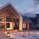 Proiect casa parter si mansarda - Smart Home Concept Hygge Home, Cabins In The Woods, Apartment Design, Home Fashion, Smart Home, Home Projects, Bungalow, Building A House, Beach House