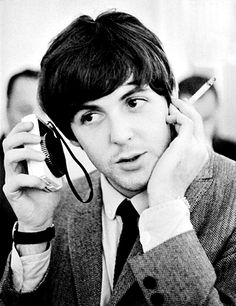All you need are... The Beatles - Paul McCartney listening to the radio.